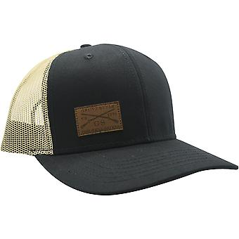 Grunt style logo nahka patch hattu - musta