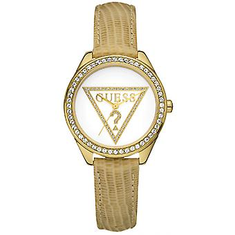 Guess W70015L1 Mini Triangle Analog White Dial Ladies Watch