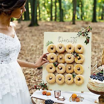Rustik træ donut sød mad stand display bryllupsfest