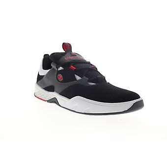 DC Kalis  Mens Black Suede Lace Up Skate Sneakers Shoes