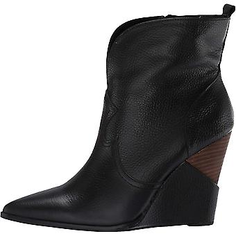 Jessica Simpson Womens Hilrie Leather Pointed Toe Ankle Fashion Boots