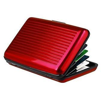Portemonnee / kaarthouder met RFID-bescherming (Rood)