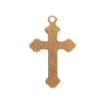 Copper Blanks Small Crucifix Pack of 10, 13mm X 20mm