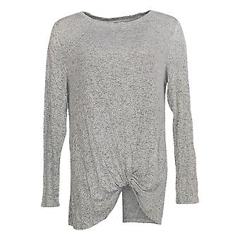 AnyBody Women's Top Hacci Front Twist Top Gray A349801