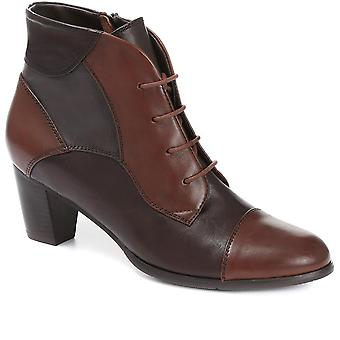 Regarde Le Ciel Womens Lace-Up Leather Ankle Boot