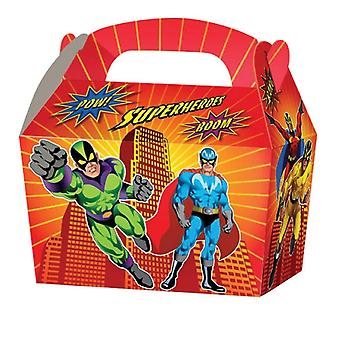10 Superheroes Card Party Food or Treat Box