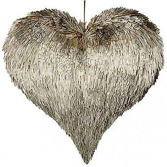 Champagne Gold Hanging Heart