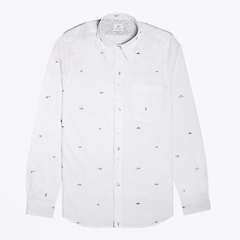 PS Paul Smith  - Tailored-Fit 'Flying Saucers' Print Shirt - White