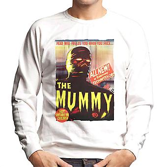 Hammer Horror Films Mummy Movie Poster Men's Sweatshirt