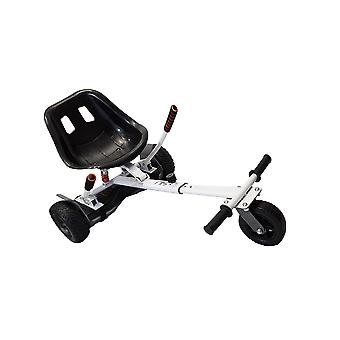 SILI® Off Road Suspension Kart for 2 Wheel Self Balance Scooter, Improved Design with Suspension Under Seat - WHITE