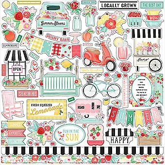 Carta Bella Summer Market 12x12 Inch Element Sticker