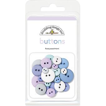 Doodlebug Design Frosty Assortment Buttons (24pcs) (411)