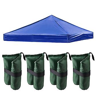 Instahibit 9.6x9.6 Ft Outdoor Event Pop Up Canopy Tent Top Replacement Camping Carport Cover ONLY with 4 Pack Sand Bag