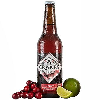 Cranes Cranberry Cider with Cranberries & Limes