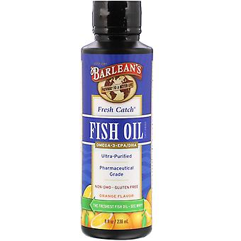 Barlean's, Fresh Catch Fish Oil, Omega-3 EPA/DHA, Orange Flavor, 8 fl oz (236 ml