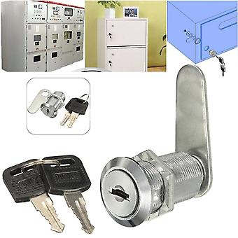 Durable Metal Cam Lock With Key For For Letter Box Mailbox Drawer Cupboard