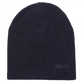 Superdry Orange Label Basic Beanie Hat Navy Grit CS2