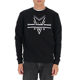 Les Hommes Ljh204753e9000 Men's Black Cotton Sweatshirt