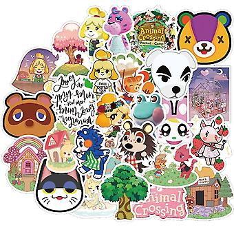 50pcs Animal Crossing Game Stickers Skateboard Fridge Guitar, Ordinateur portable,