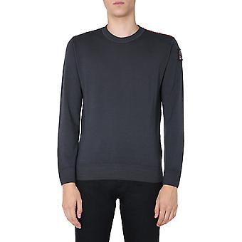Parajumpers Pmknikn22p62736 Men's Grey Wool Sweater
