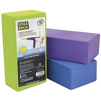 Yoga-Mad Hi-density Yoga Brick 220mm x 110mm x 70mm Purple
