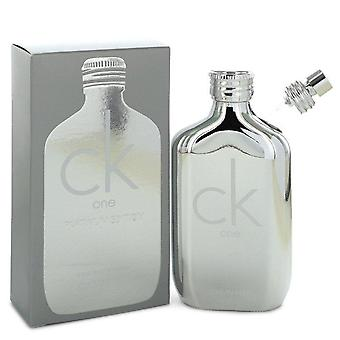 Ck One Platinum Eau De Toilette Spray (Unisex) By Calvin Klein 3.4 oz Eau De Toilette Spray