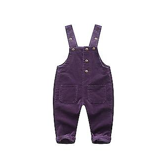 Baby Velvet Knitted Overalls Pants - Toddler Soft Jumpsuit