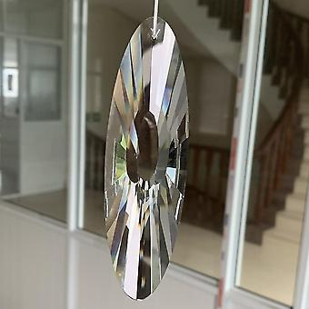 Faceted Glass Crystal Suncatcher Reiki Prism Hanging Pendant, Mobile Decor Art