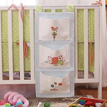 Baby Bed Hanging Storage Bag, Newborn Crib Organizer