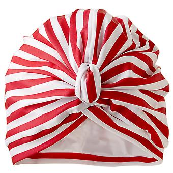 Stripey Red Shower Turban