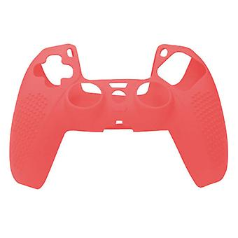 الاشياء المعتمدة® المضادة للانزلاق غطاء / الجلد لبلاي ستيشن 5 وحدة تحكم - قبضة غطاء PS5 - أحمر