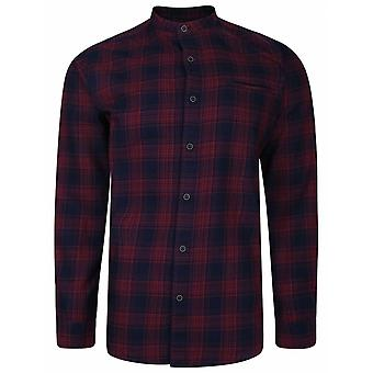 PETER GRIBBY Peter Gribby Check Grandad Collar Casual Shirt