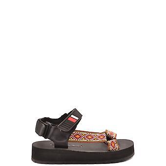 Prada Ezbc021059 Women's Black Leather Sandals