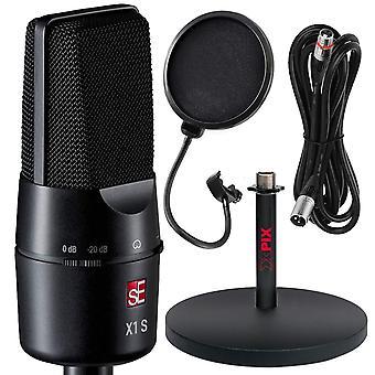 Se electronics x1 s microfono condensatore cardioide a grande diaframma con 6? supporto per microfono desktop e bundle di accessori