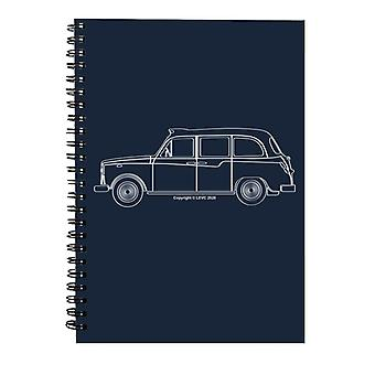 London Taxi Company TX4 Outline Spiral Notebook