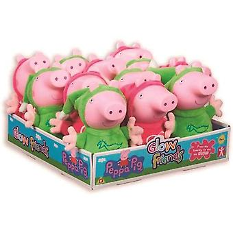 Bolyhos toy Peppa Pig Glow Barátok Bandai (23 cm)