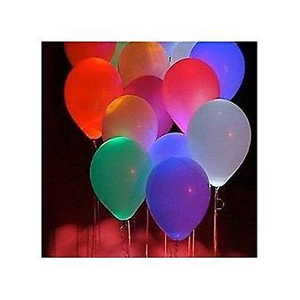 15 stk flerfarget blinkende ledet lys opp ballonger bryllupsfest bursdag lanterner