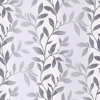 Silver leaf white background