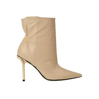 N°21 Ezgl068245 Dames's Nude Leather Enkellaarsjes