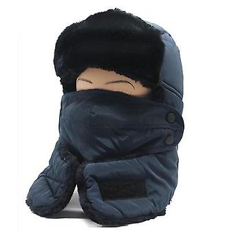 Winter Warm Windproof Mask With Scarf Hat For Skiing Cycling Snowboard
