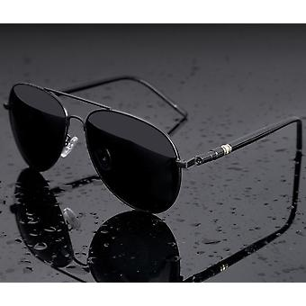 Aviation Metal Frame Quality Oversized Spring Leg Alloy Men Sunglasses