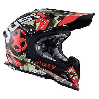 Just 1 J12 Carbon MX Helmet Kombat Red