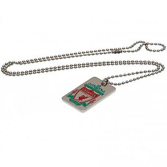 Liverpool Enamel Crest Dog Tag & Chain