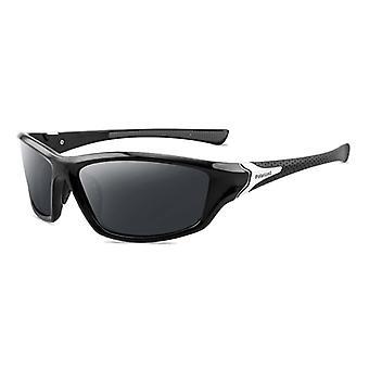 ZXWLYXGX Sport Sonnenbrille - UV400 und Polarisierter Filter für Damen und Herren - Schwarz