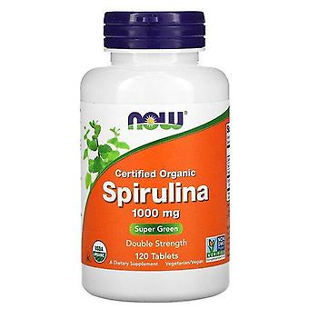 Now Foods, Certified Organic, Spirulina, 1,000 mg, 120 Tablets