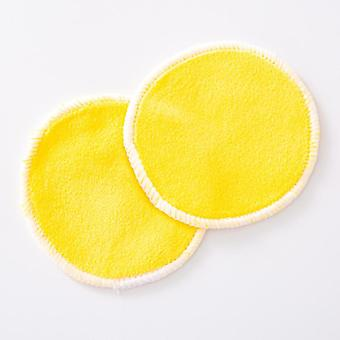 2pcs Reusable Bamboo Fiber Washable Rounds Pads, Makeup Remover Pad
