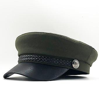 Hochwertige militärische Mann/Frau Flache Hüte, Captain Cap