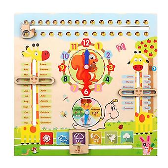 Learning Clock Toy, All About Today Board, Teaching Time Monthly Calendar