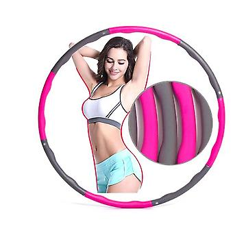Pink 1kg Adjustable Soft Weighted Hula Hoop Fitness Ring For Kids And Adult