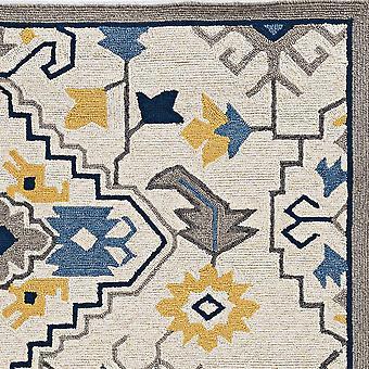 3' x 5' Mosaico de Marfil Floral Area Rug